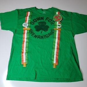 46 48 3X ST PATRICK'S IRISH SUSPENDERS TEE